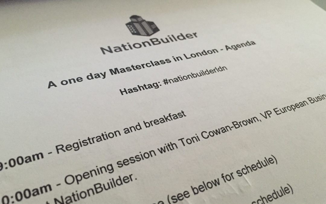 Notes from NationBuilder's Masterclass
